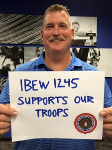 City of Roseville IBEW 1245 Member and former Marine Mike Barton kicked off photo campaign