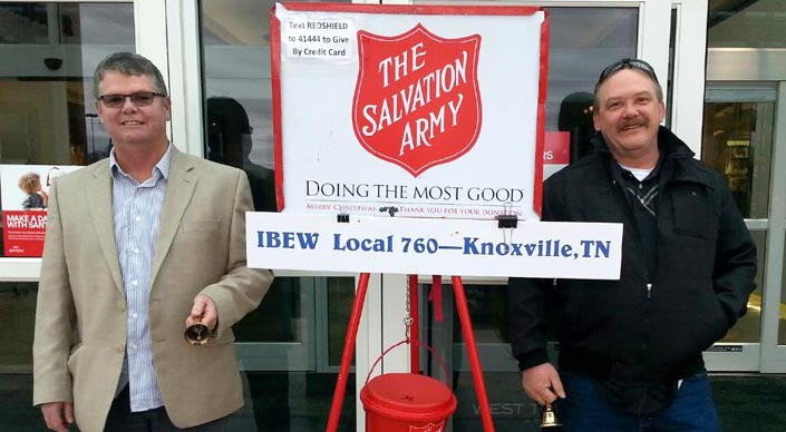 IBEW rings the bell for the Salvation Army