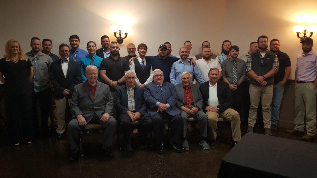 Seated (L - R) Committee Members: Larry Cole, Wayne Wojciechowski (A. J.. Pearson - center), Lonnie Hunley and Tim Oaks.