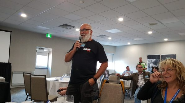 Glen presenting Business Manager's report
