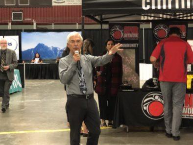 Ron Bartlett CFNR welcome to Terrace Career Fair