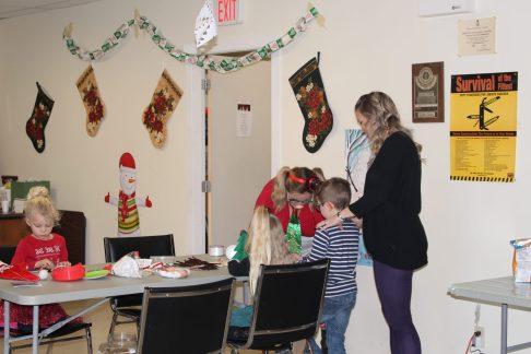 IMG_0540 Kids making reindeer ornaments Christmas 2019