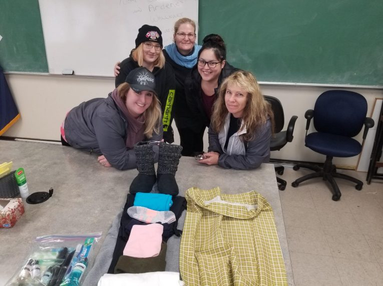 Comfort Cases 2020 Ready for assembly of Comfort Cases with Alison Klie Rachel Ferguson, Tammy Schnieder, Chandra Dugas-Basil Mollie Routledge