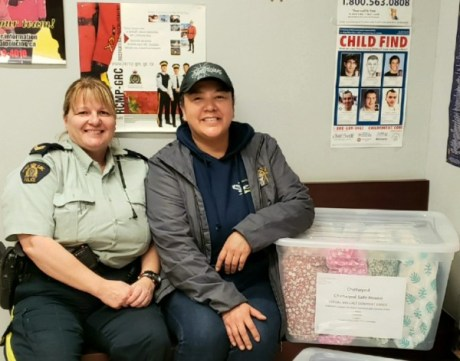 Delivery to Cpl Joanne Ruppenthal of the Chetwynd Police Department.