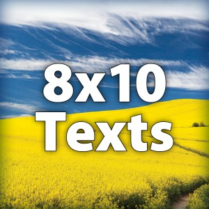 "8x10"" Texts"