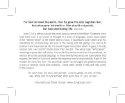John 3:16 - back
