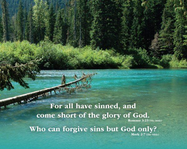 Romans 3:23, Mark 2:7