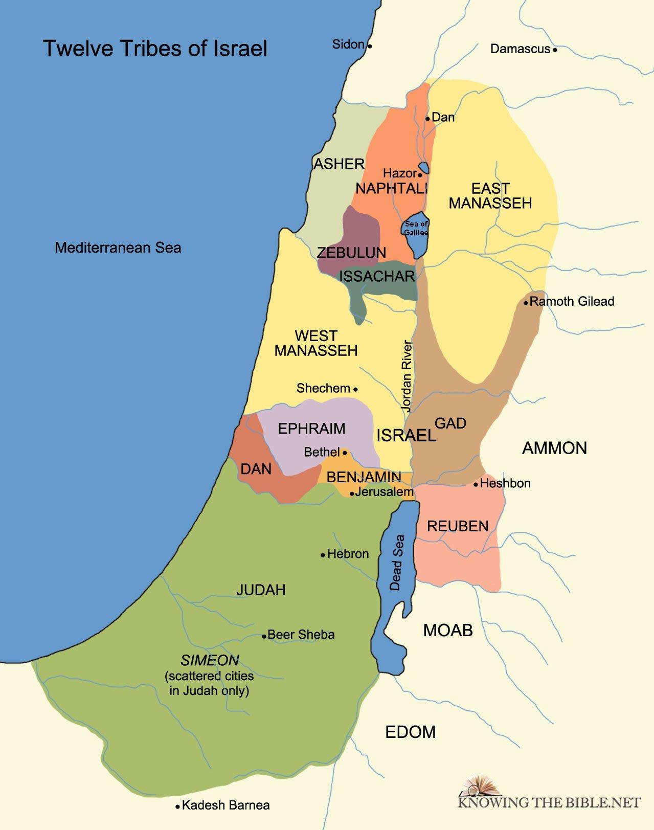 Tribal Allotments Of Israel