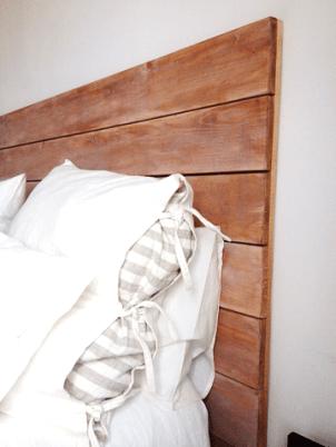 Lateral de cabecero de cama de madera