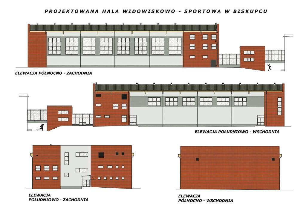 Projekt Hali Widowiskowo - Sportowej w Biskupcu