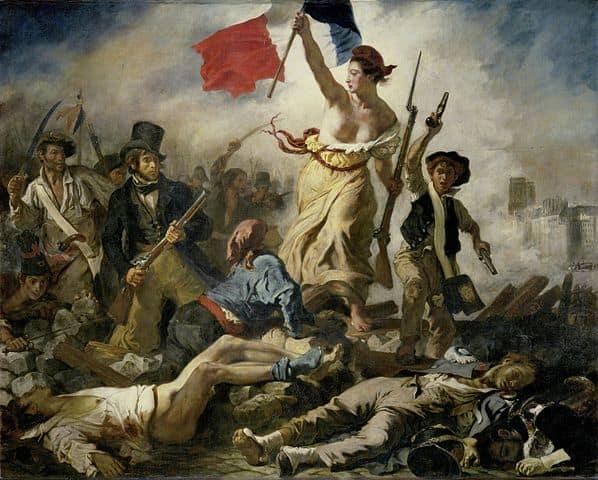 La Libertad guiando al pueblo, de Ferdinand-Victor-Eugène Delacroix (1830)