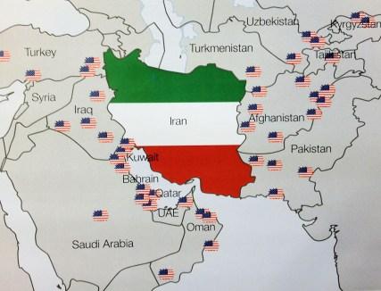 Bildergebnis für us bases around iran