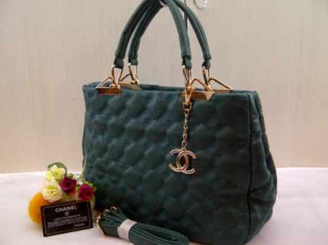 Chanel 704018 33x24x13 bahan kulit green 200
