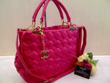 chanel 704038 33x27x13 bahan kulit pink 200