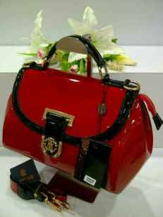 E00 Roberto Cavalli 0018 Red Glossy SemSup 28x15x21