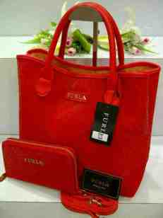 ED0 Furla Maribel Gliter Set 966 Red SemSup 30x15x28