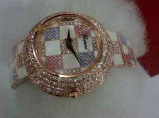 Jam Chopard 3032 super (bfe) kaca 3cm bodi 4cm siver dan gold bonus kotak(1)(2)