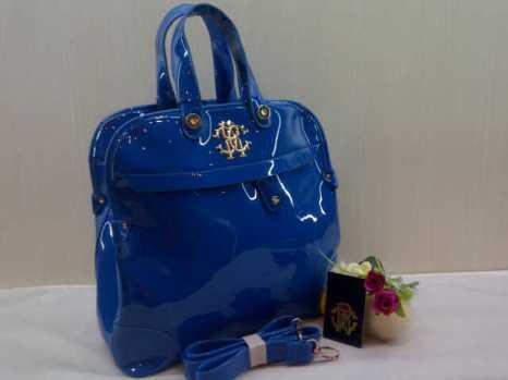Roberto cavalli super 0016 33x30x13 bahan glosy blue 230