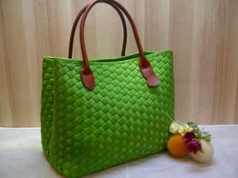 Sale maribel semi ori bahan polyester gagan kulit asli 35x28x19 green 300