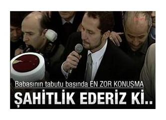 Fatih Erbakan cenazede neler söyledi! Seyredin