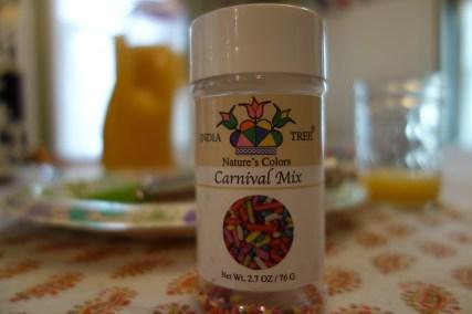 Sprinkles on the breakfast table