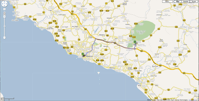 Tranquearah, Malacca to Tangkak, Johor