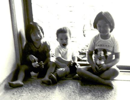 1980 posing with our savings