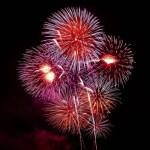fin de año fuegos artificiales