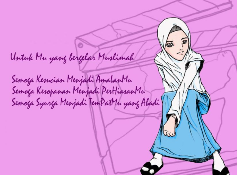 500 Gambar Kartun Muslimah Terbaru Kualitas Hd 2018 Foto Keren