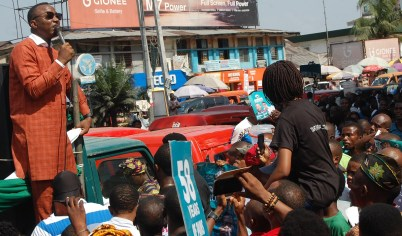 Sowore Storms Uyo: Flag of Campaign