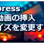 【Wordpress】画像や動画の挿入、表示サイズを変更する方法