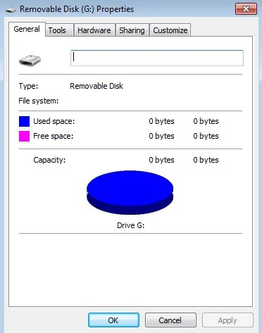 Cartões SD mostram 0 bytes de espaço no Gerenciamento de Disco