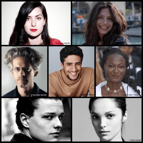 Le Jury Courts Métrages avec Rebecca Zlotowski (présidente), Noée Abita, Santiago Amigorena, Rahmatou Keïta, Jules Benchetrit, Lola Le Lann