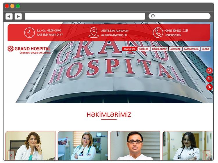 Hospital üçün Sayt Yaradılması
