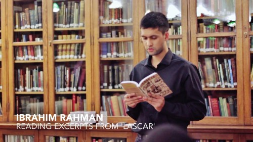 Ibrahim reads an excerpt from his mother's novel Lascar at the Bishopsgate Library in London
