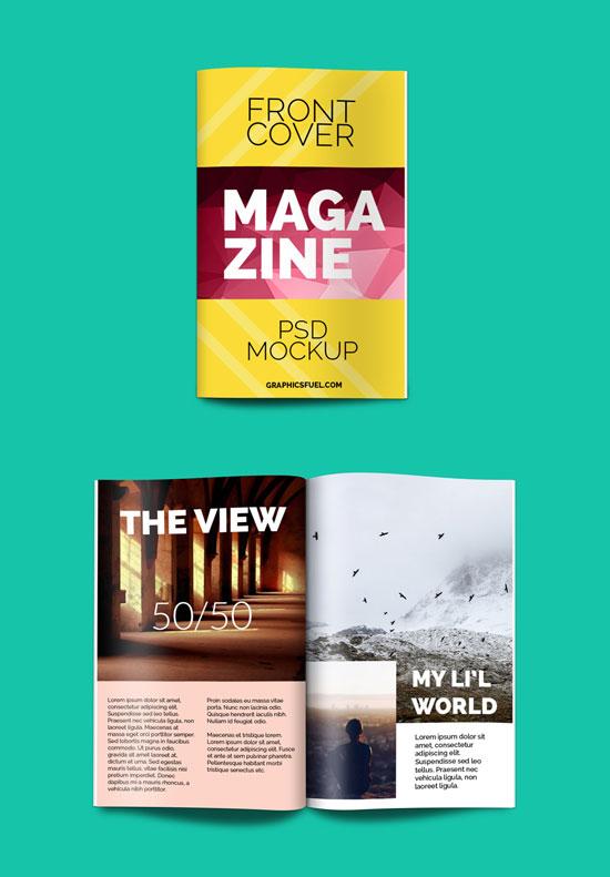 Maqueta de la revista