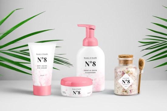 Cosmetics Packaging PSD MockUp por GraphicBurger