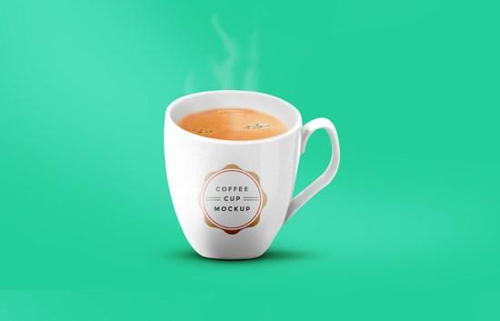 Coffee Cup Mockup PSD por GraphicsFuel