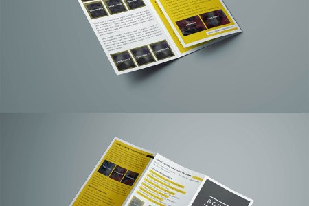 Free Tri Fold Brochure Template  PSD  Ideal for Event or Business Download