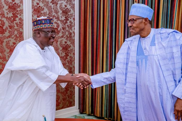 Buhari meets Senate President on insecurity, APC Crisis