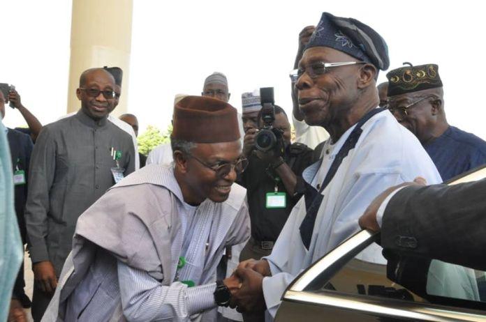 Obasanjo lays foundation for N3.4bn flyover bridge in Sokoto