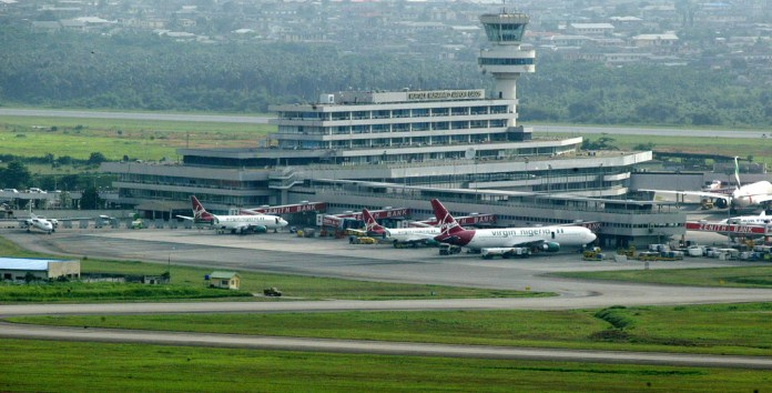 Image result for Aviation unions take over Lagos Airport
