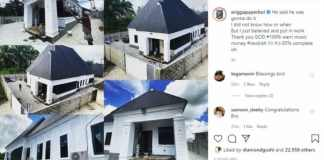 Warri rapper, Eringa unveils new mansion, 85% completed