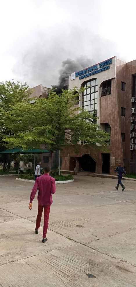 Just In: Nigerian Postal Service headquarters on fire