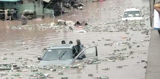 Following the heavy downpour on Tuesday in Ibadan, Oyo State capital, properties worth millions of nairas have been destroyed