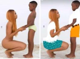 Ghanaian actress who went nude to celebrate son's birthday says...