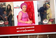 Momoh celebrate 16th wedding anniversary, as Wife marks birthday