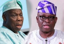 Fayose attacks Obasanjo's official statement on ex-Senator Kashamu's death