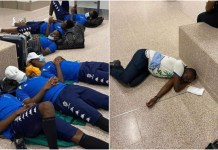 Aubameyang, Gabon teammates forced to sleep on Banjul airport floor
