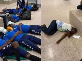 Aubameyang, Gabon teammates forced to sleep on Banjul airport floor